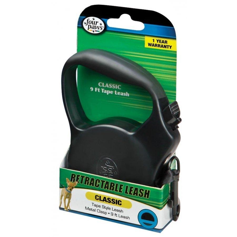 Retractable Tape Dog Leash / Size Medium / Black