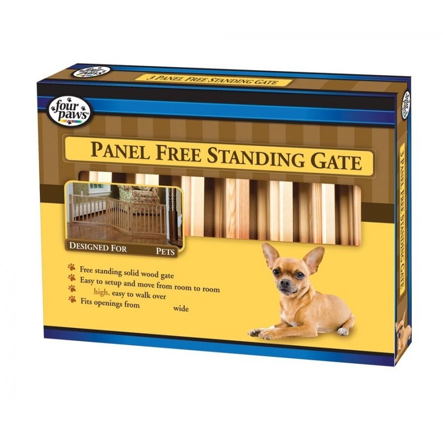 Free Standing Walk Over Wood Pet Gate / Size 3 Panel