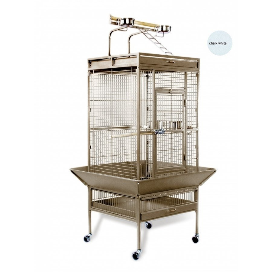 Bird Cage For Tiels / Parrots 24x20x60 In. / Color Speckled White