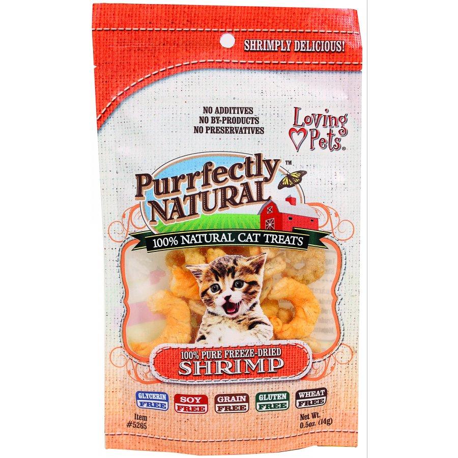 Purrfectly Natural Cat Treats / Size Shrimp / 0.5 Oz.