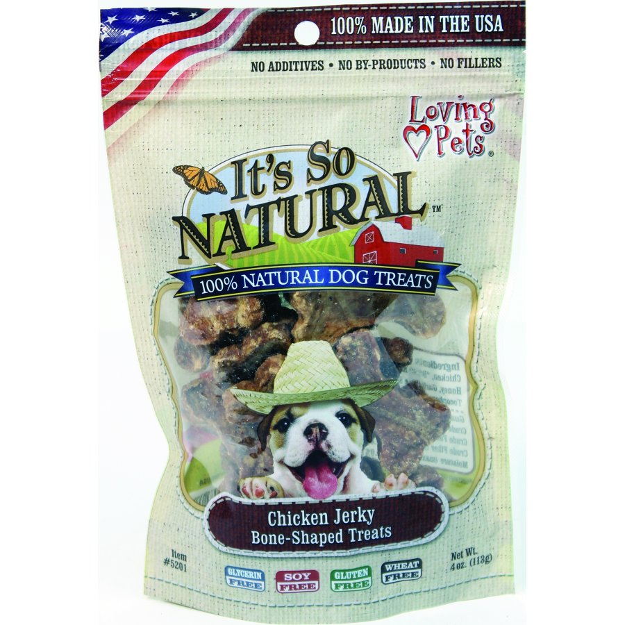 Its Purely Natural Dog Treats Chicken Jerky 4 Oz.