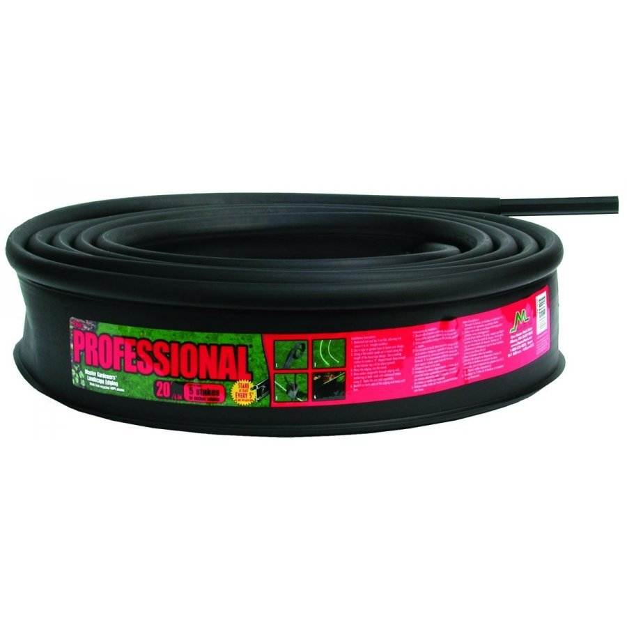 Master Gardner Series Professional Recycled Black Edging - 20  ft. Best Price