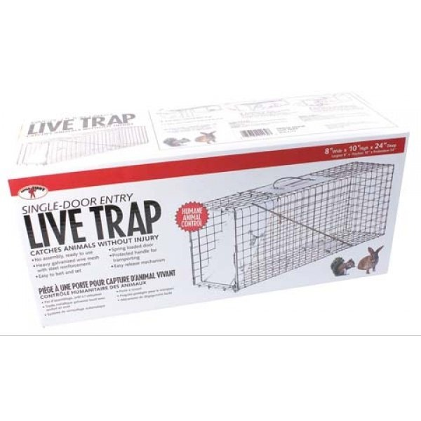 Single Door Live Trap / Size (24 X 8 X 10 in.) Best Price