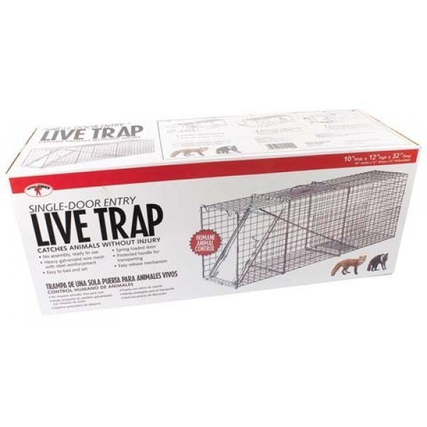 Single Door Live Trap / Size (32 X 10 X 12 in.) Best Price