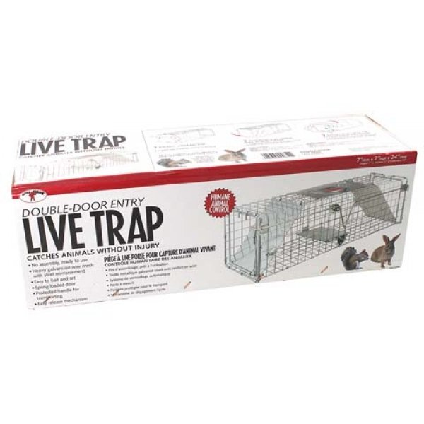 Double Door Live Trap / Size (24 X 7 X 7 in.) Best Price