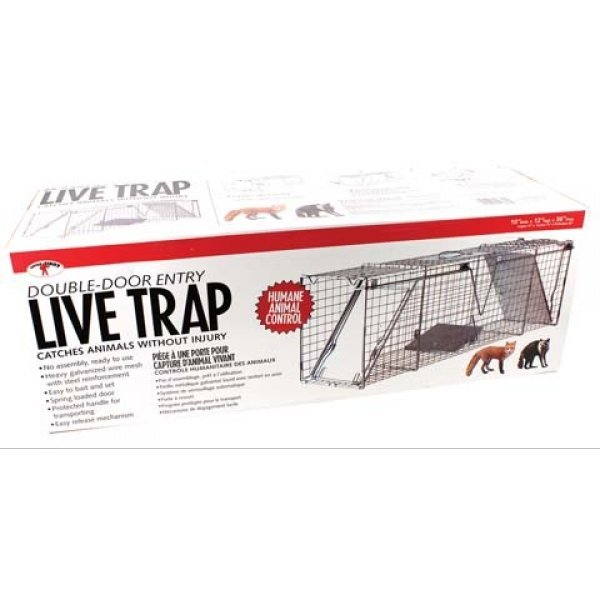Double Door Live Trap / Size (10 X 12 X 36 in.) Best Price