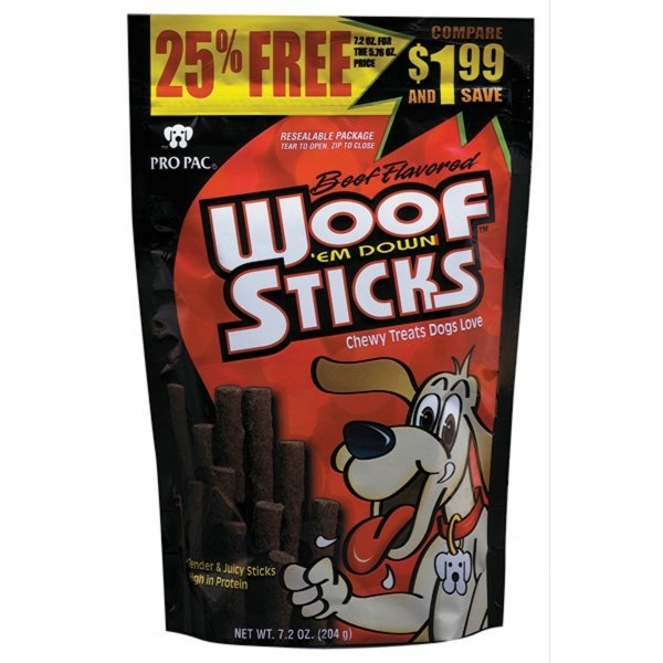 Beef Woof Em Down Sticks Case Of 10