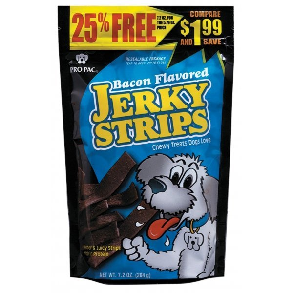 Bacon Flavored Jerky Strips Case Of 10