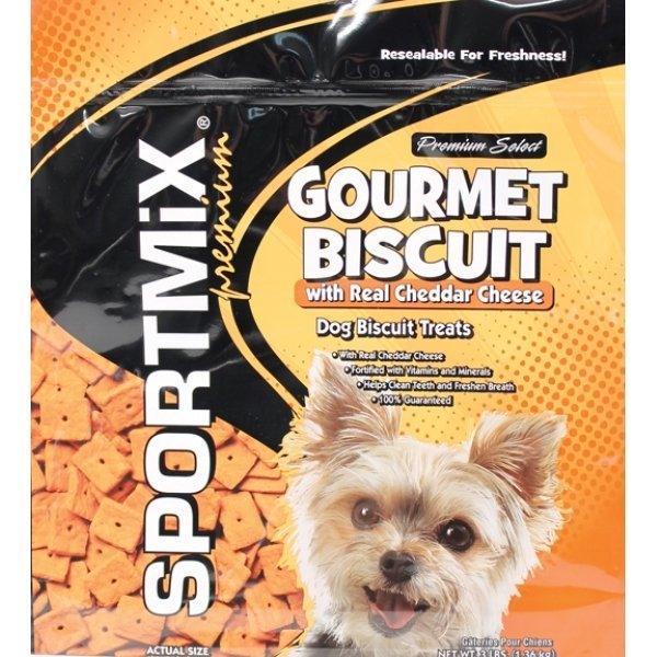 Sportmix Premium Select Gourmet Biscuit Cheddar Cheese / 3 Lbs
