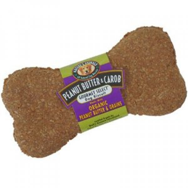 Organic Peanut Butter And Carob Dog Treats Case Of 48