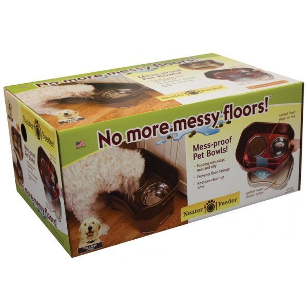 Neater Feeder Elevated Dog Bowls / Size Large / Cranberry