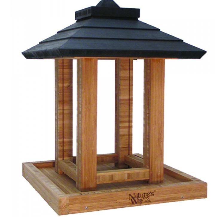 Bamboo Gazebo Bird Feeder 8 Qt.