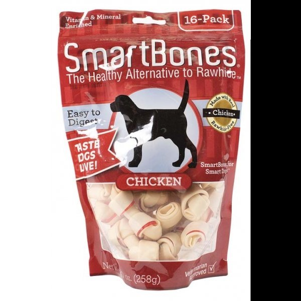 Smartbones Chicken Dog Treats / Size Mini / 16 Pk.