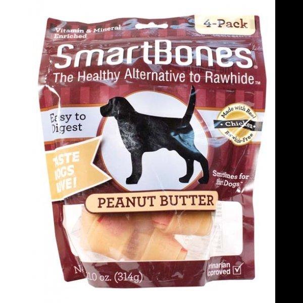 Smartbones Peanut Butter / Size Medium / 4 Pk.