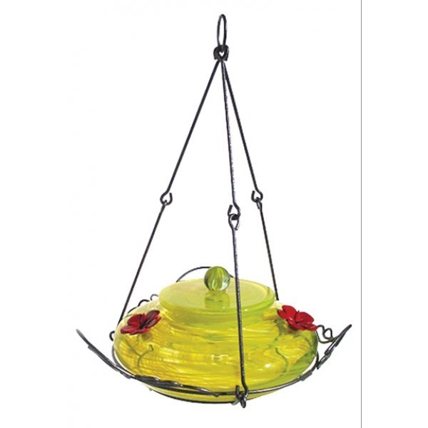 Garden Hummingbird Feeder Yellow / Clear