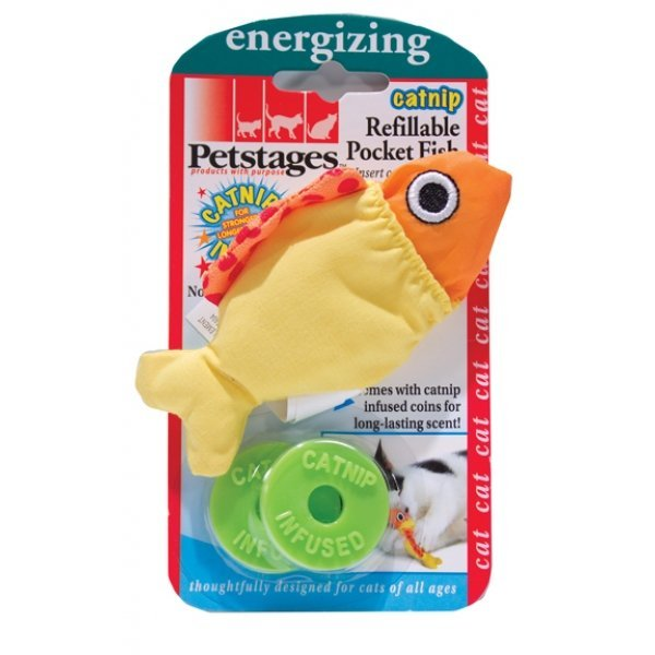 Catnip Refillable Pocket Fish Best Price