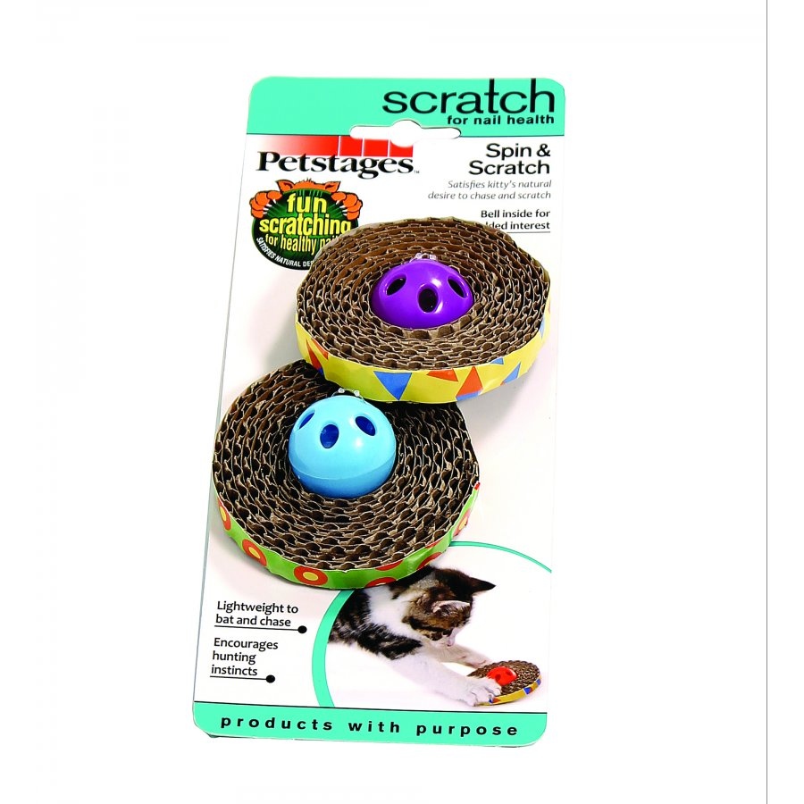 Spin And Scratch Cat Toy 2 Ct.