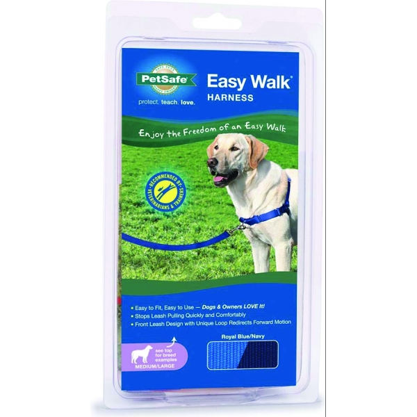 Easy Walk Dog Harness / Size (Small / Medium - Blue) Best Price