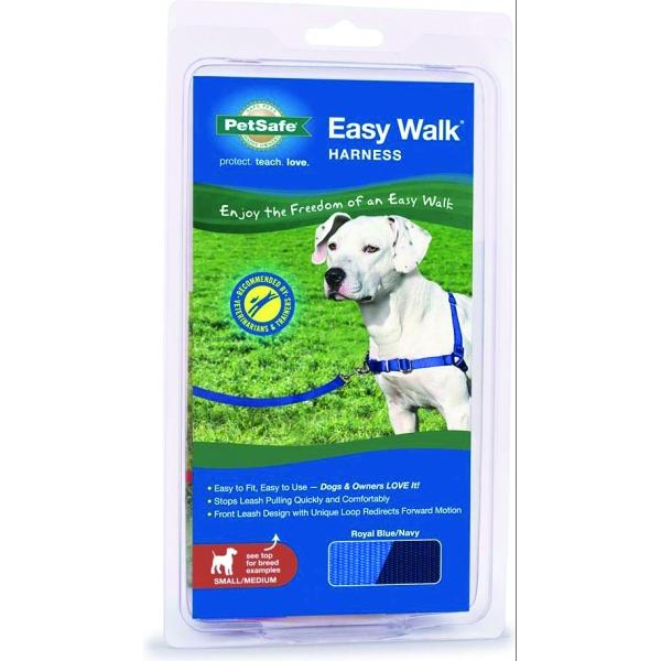 Easy Walk Dog Harness / Size Medium / Large Blue