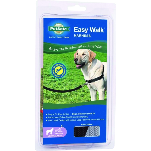 Easy Walk Dog Harness / Size (Medium / Large - Black) Best Price