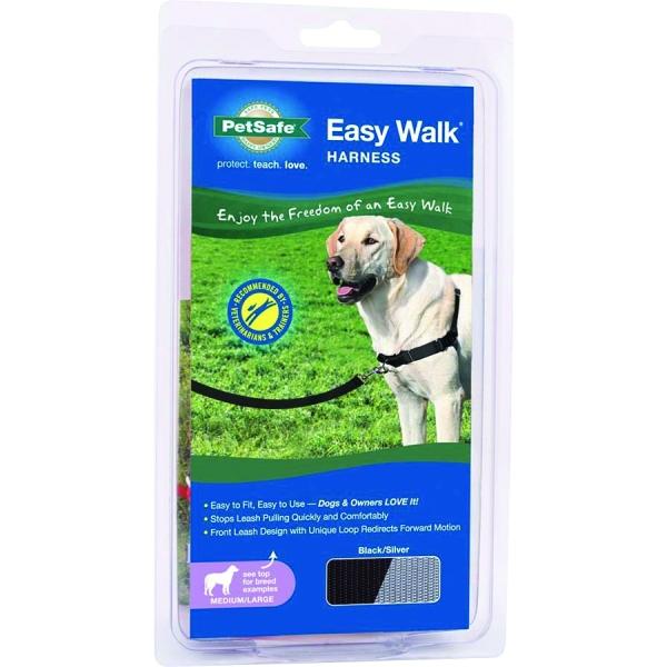 Easy Walk Dog Harness / Size Medium / Large Black