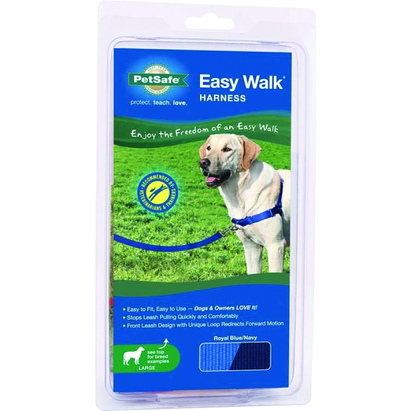 Easy Walk Dog Harness / Size Large Blue