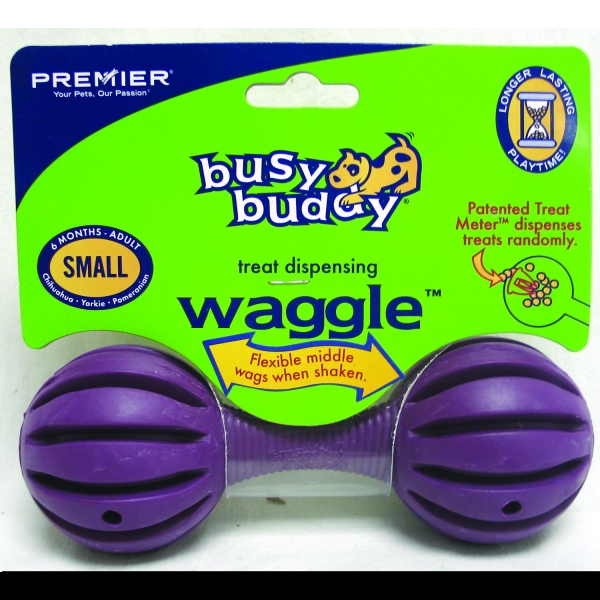 Busy Buddy Waggle / Size (Small Purple)