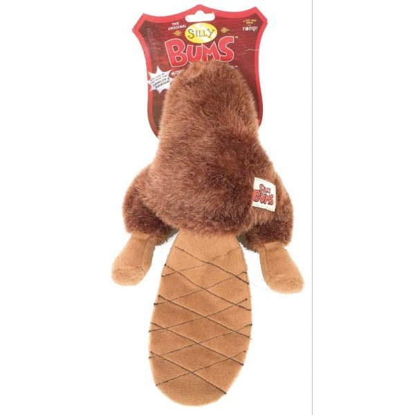 Silly Bums Dog Toy / Size Small Beaver