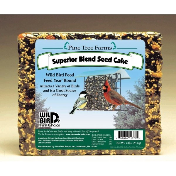 Pine Tree Farms Inc Superior Bird Cake- 2 lb Best Price