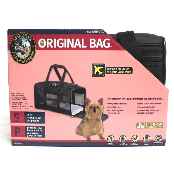 Air Lines Carry On Deluxe Pet Carrier / Size Small Black