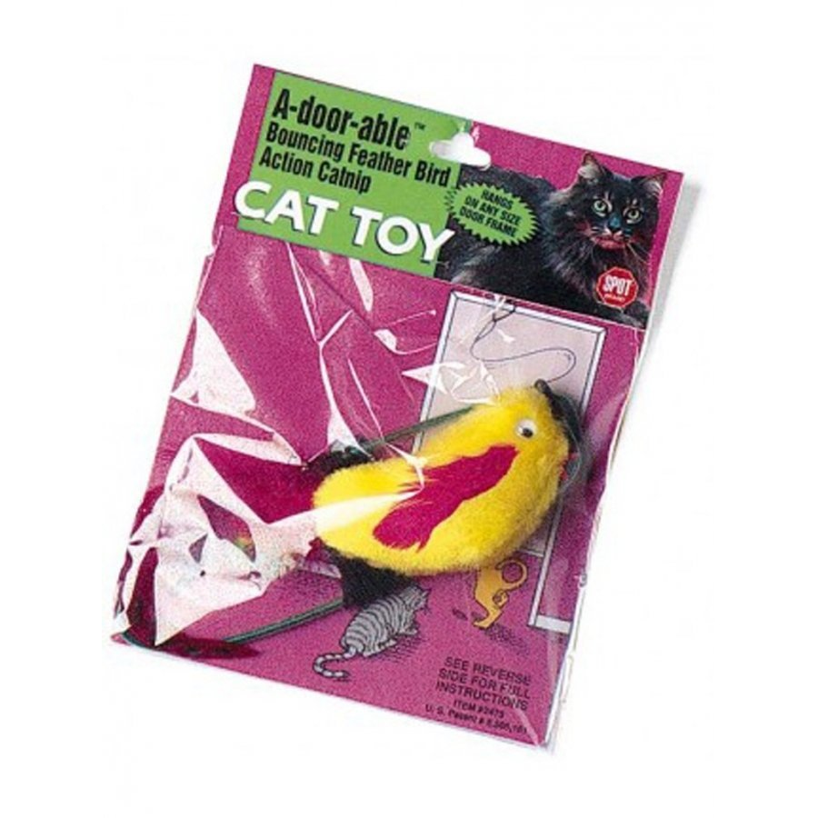 A Door Able Plush Bird Cat Toy