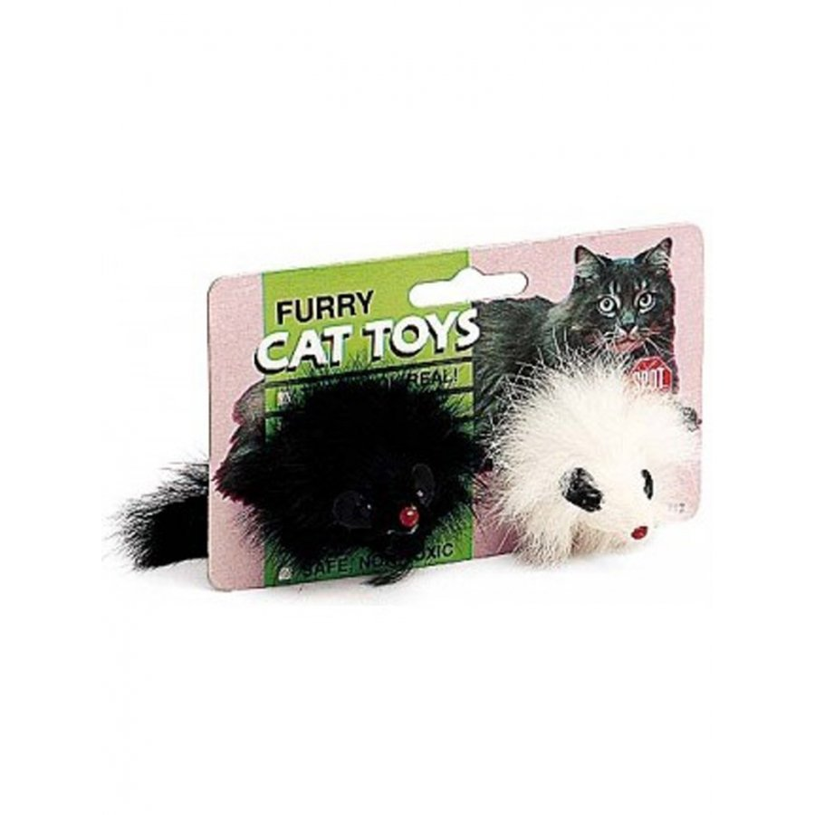 Black And White Miami Mice Twin Pack Cat Toys