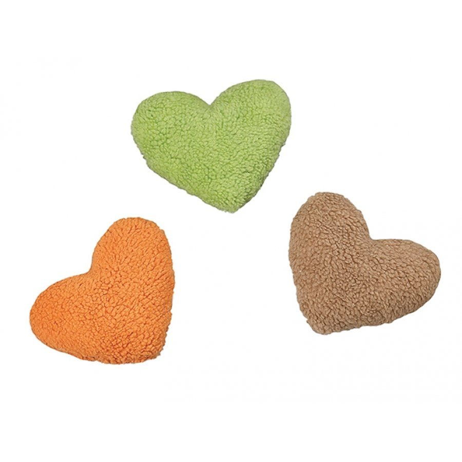 Fleece Dog Toy with Squeaker / Size (8 in. Heart Assorted)