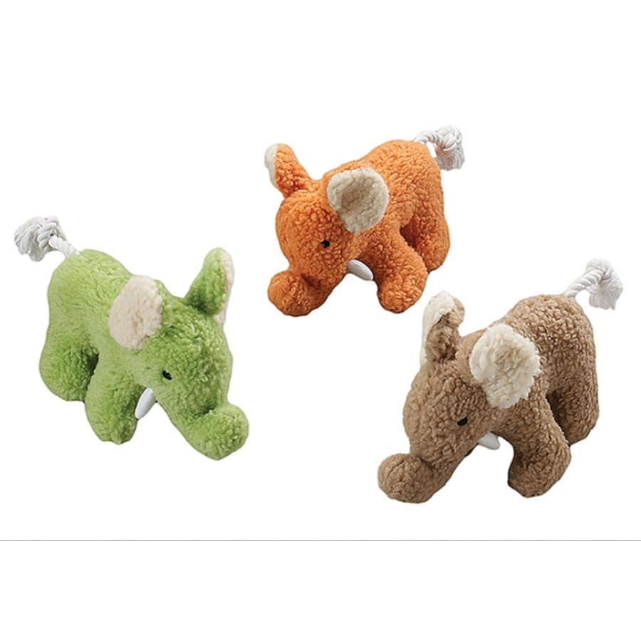 Fleece Dog Toy with Squeaker / Size (10 in. Elephant)