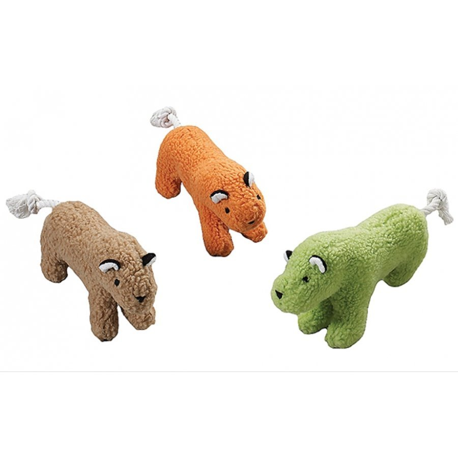 Fleece Dog Toy with Squeaker / Size (10 in. Tiger)