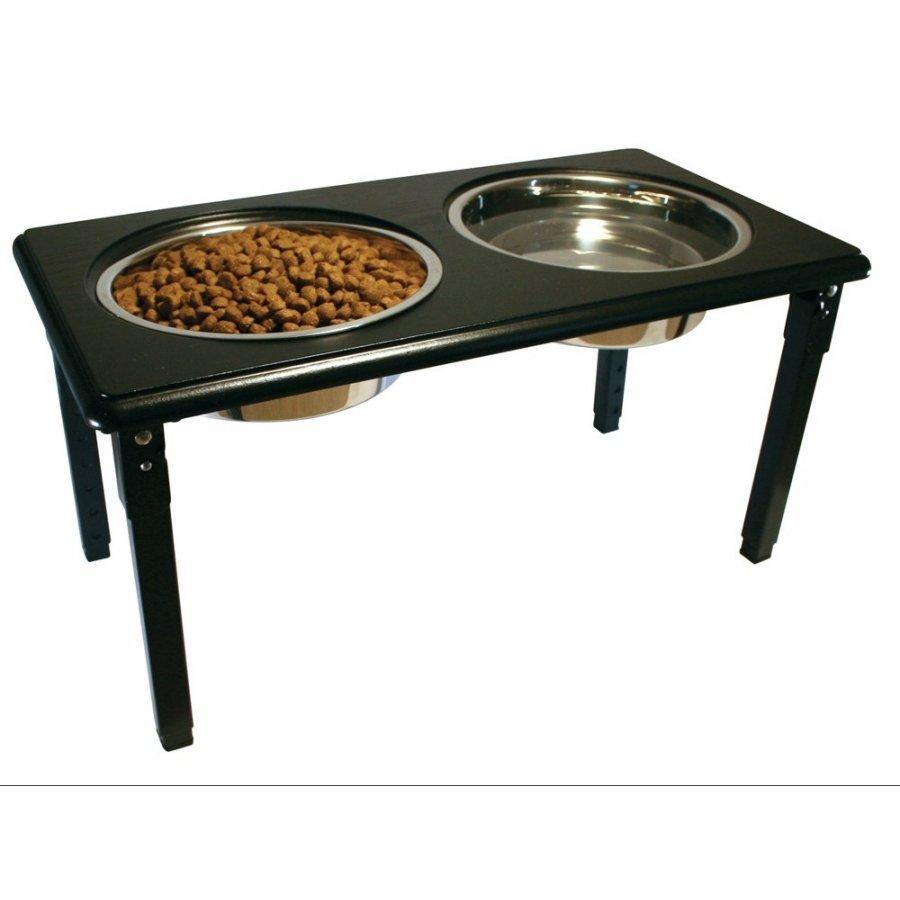 Posture Pro Adjustable Pet Double Diner / Size 2 Quart / Black