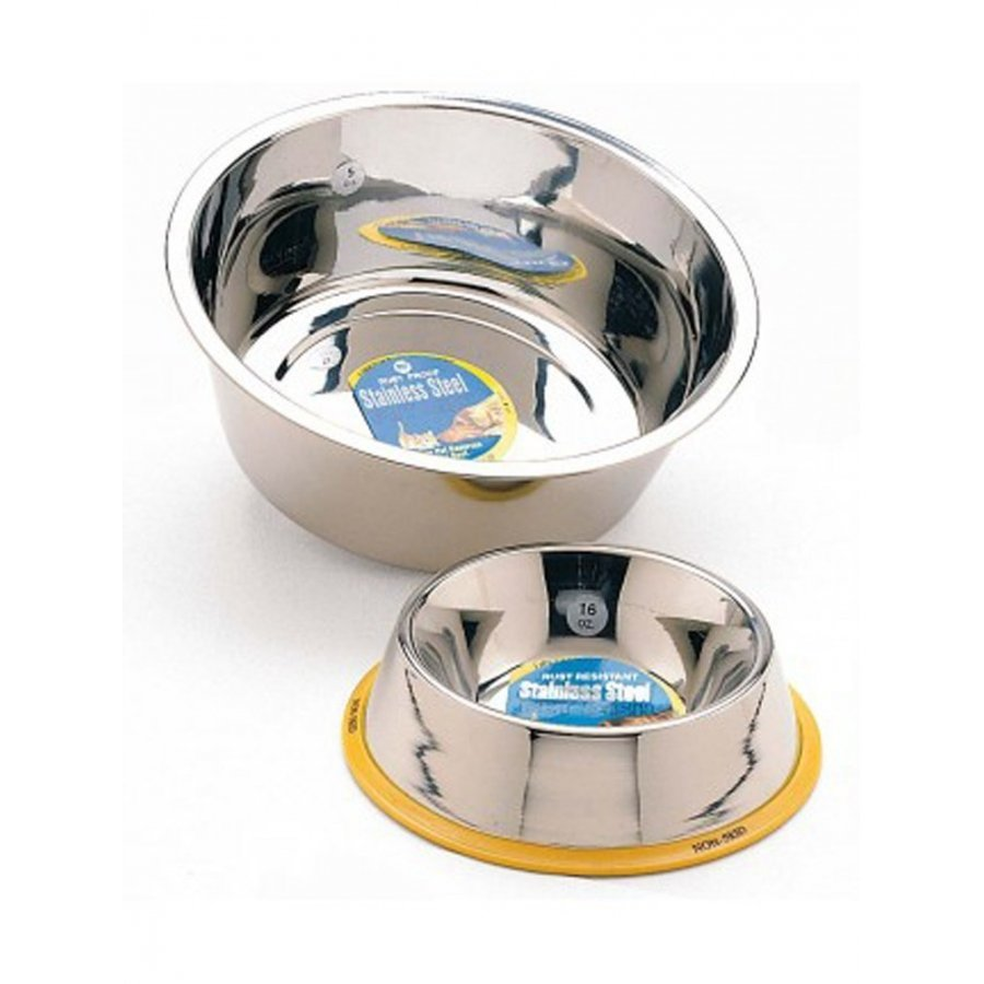 Stainless Steel Non Tip Pet Dish / Size 64 Oz.