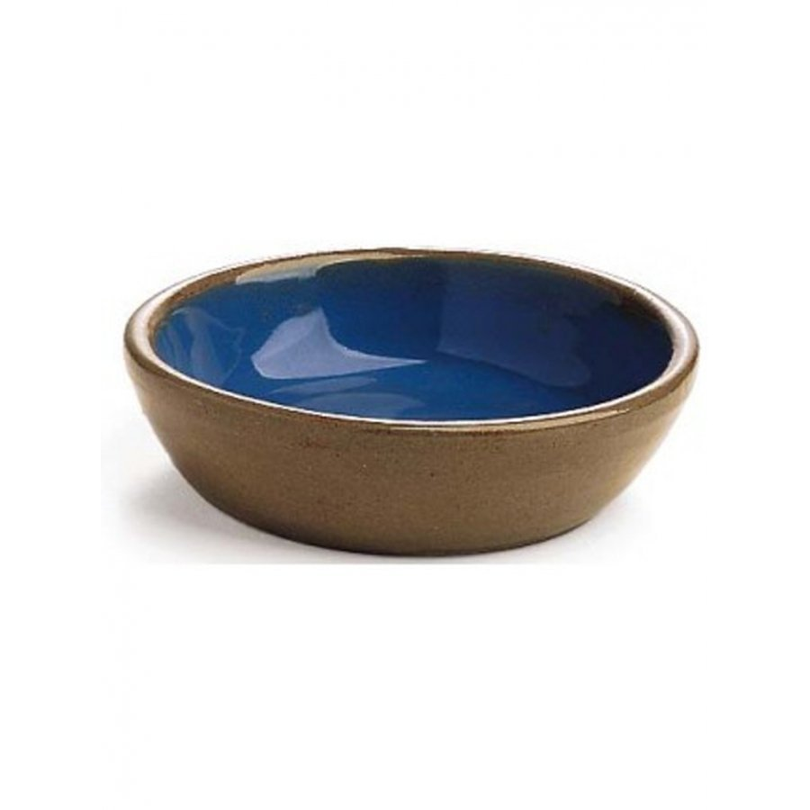 Stoneware Crock Cat Dish By Ethical 5x2 In.