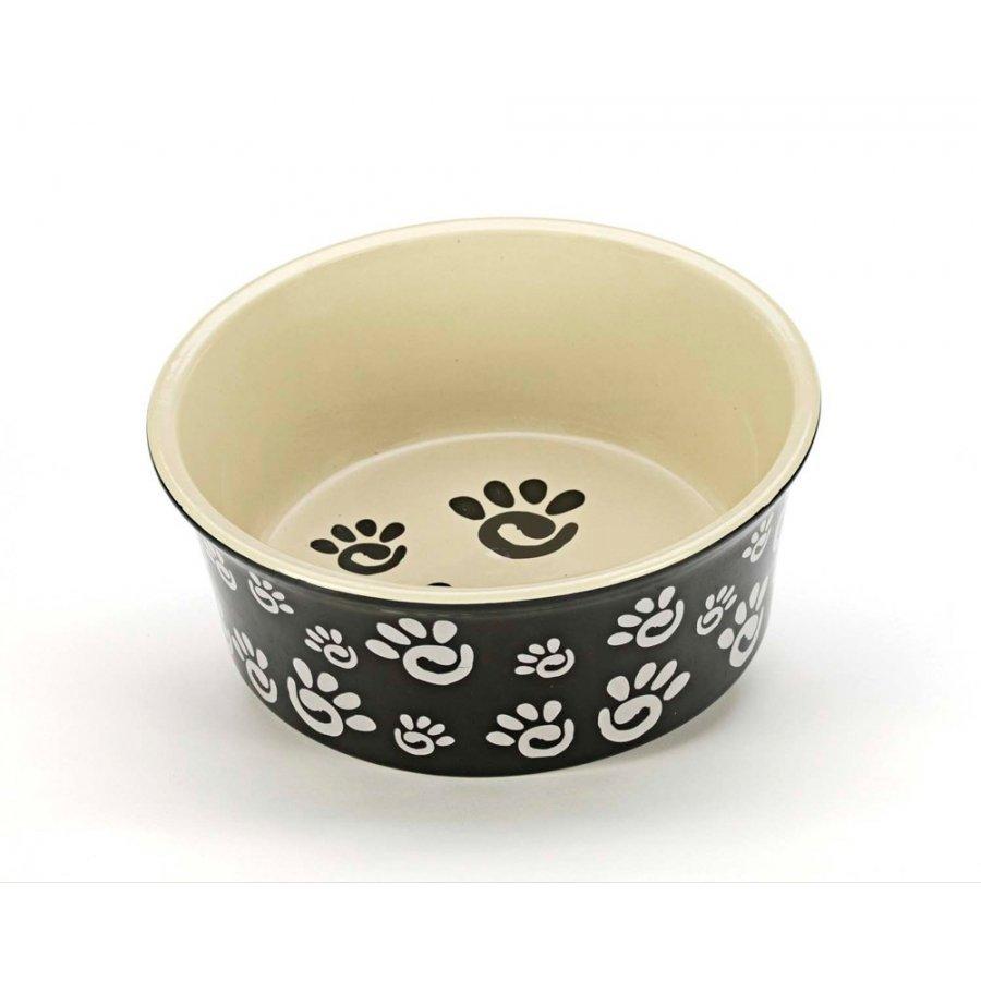 Designer Paw Print Dog Dish / Size 6 In.
