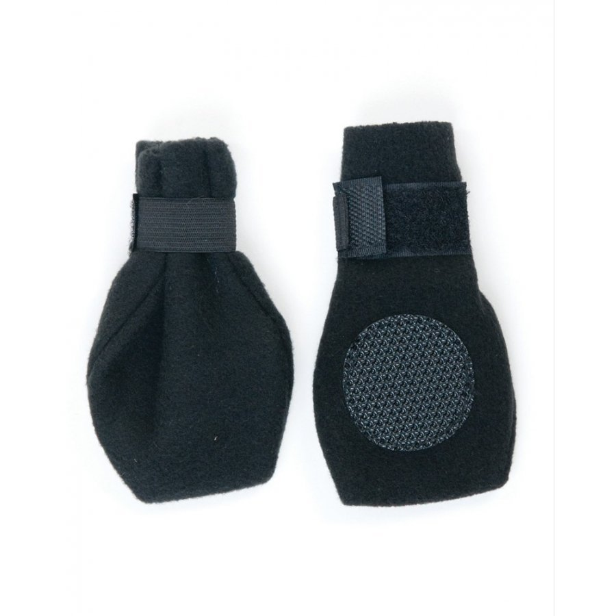 Arctic Fleece Pet Boots Set Of 4 / Size Small Black