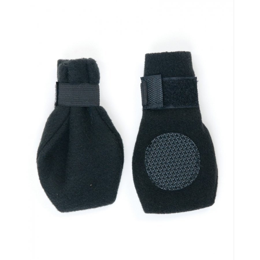 Arctic Fleece Pet Boots Set Of 4 / Size Large Black