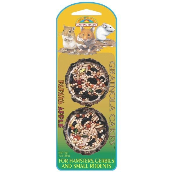 Grainola Hamster / Gerbil 2.5 oz. / Flavor (Papaya Apple - 2 cakes) Best Price
