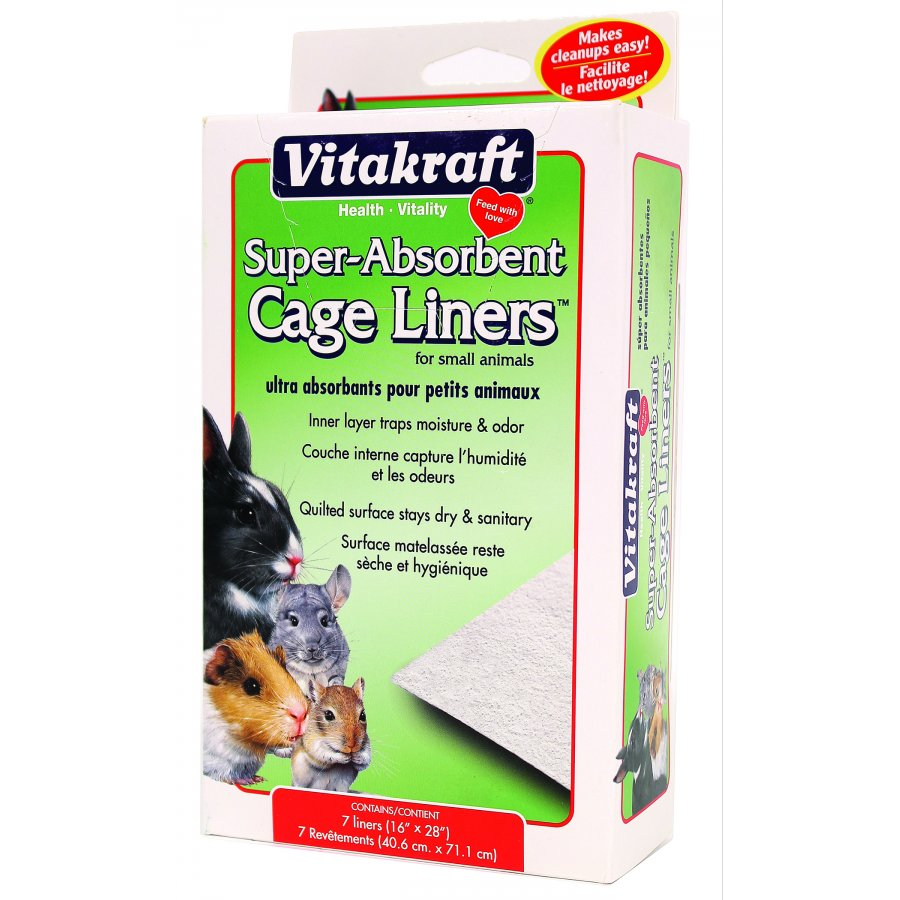 Absorbent Small Animal Cage Liners