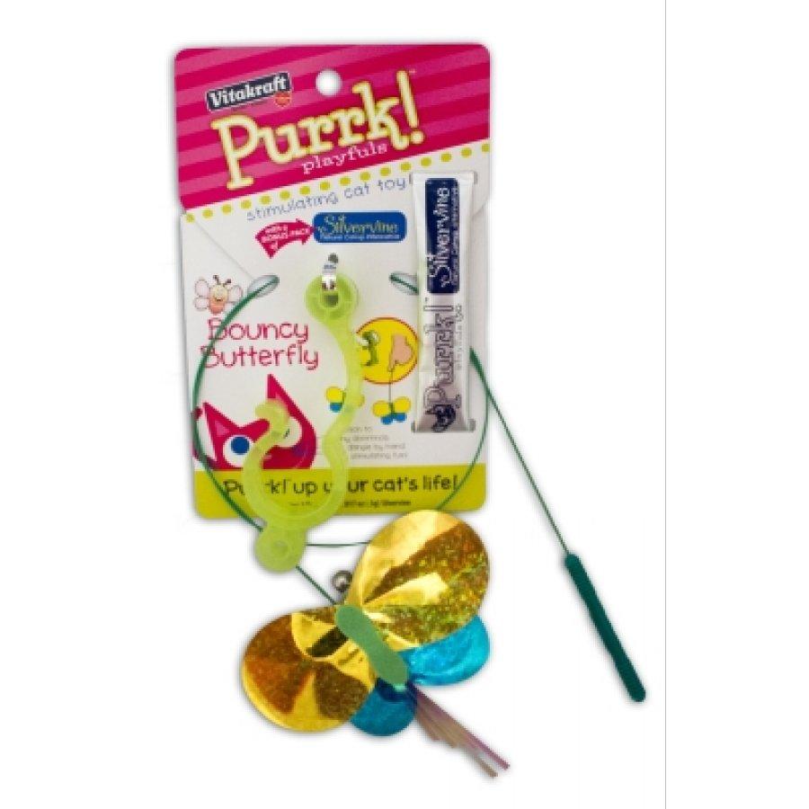 Purrk Playfuls Bouncy Butterfly Door Dangler Cat Supplies