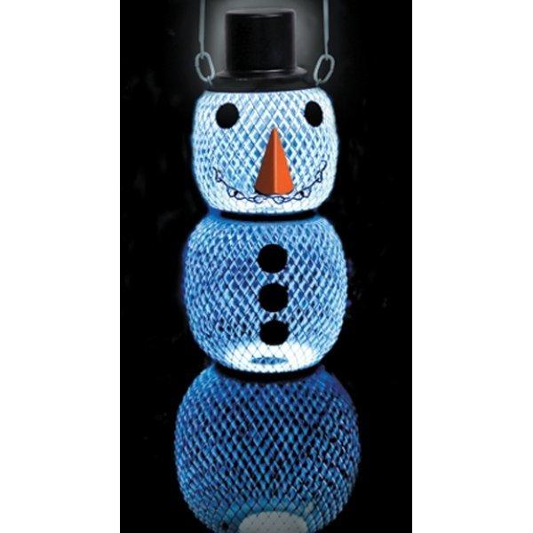 No/no Solar Snowman Wild Bird Feeder