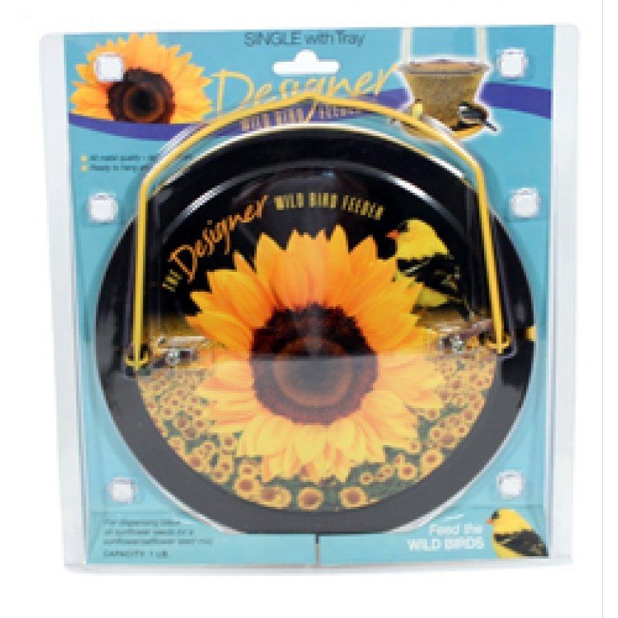 Designer Sunflower Bird Feeder - Single Tier with Tray - 1 lb. Best Price