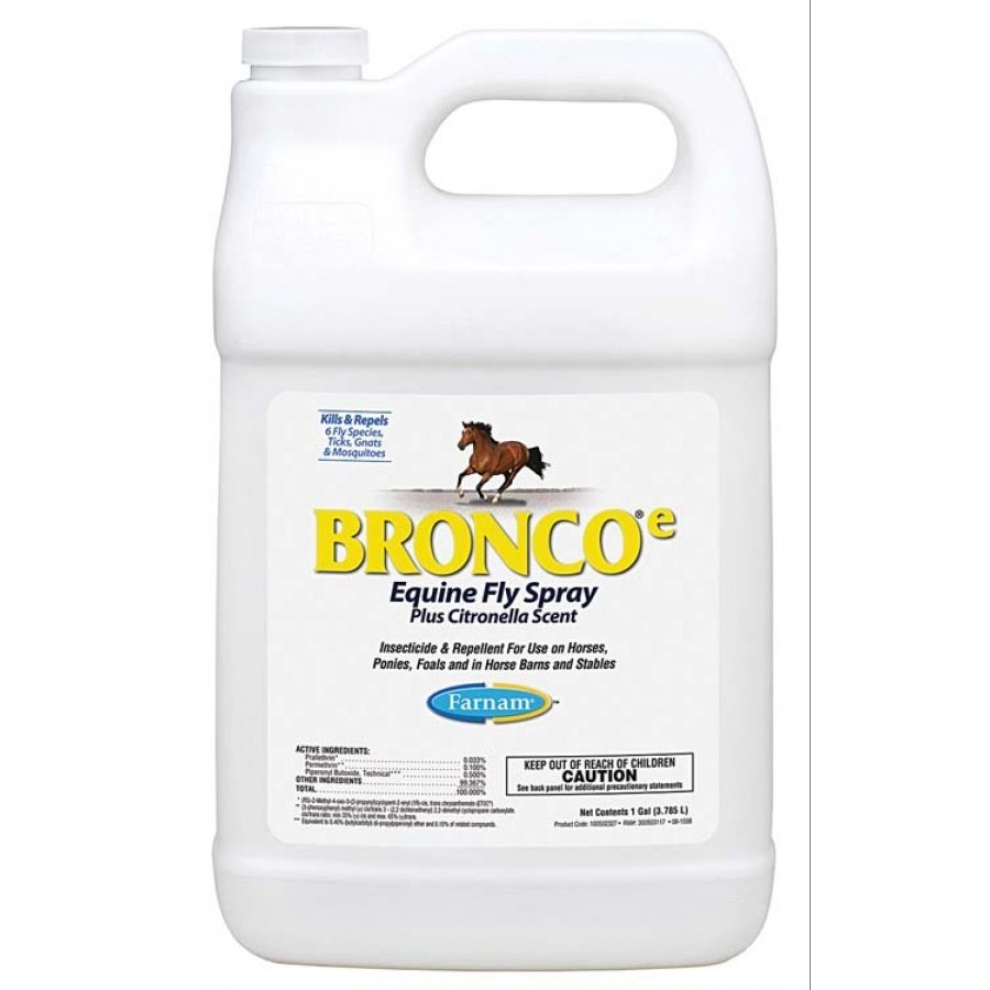 Bronco E Equine Fly Spray Plus Citronella Scent / Size (Gallon) Best Price