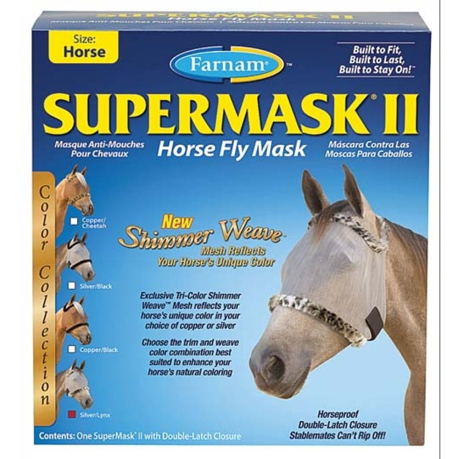 Supermask 2 Fly Mask / Size (Horse w/o Ears Silver/Lynx) Best Price