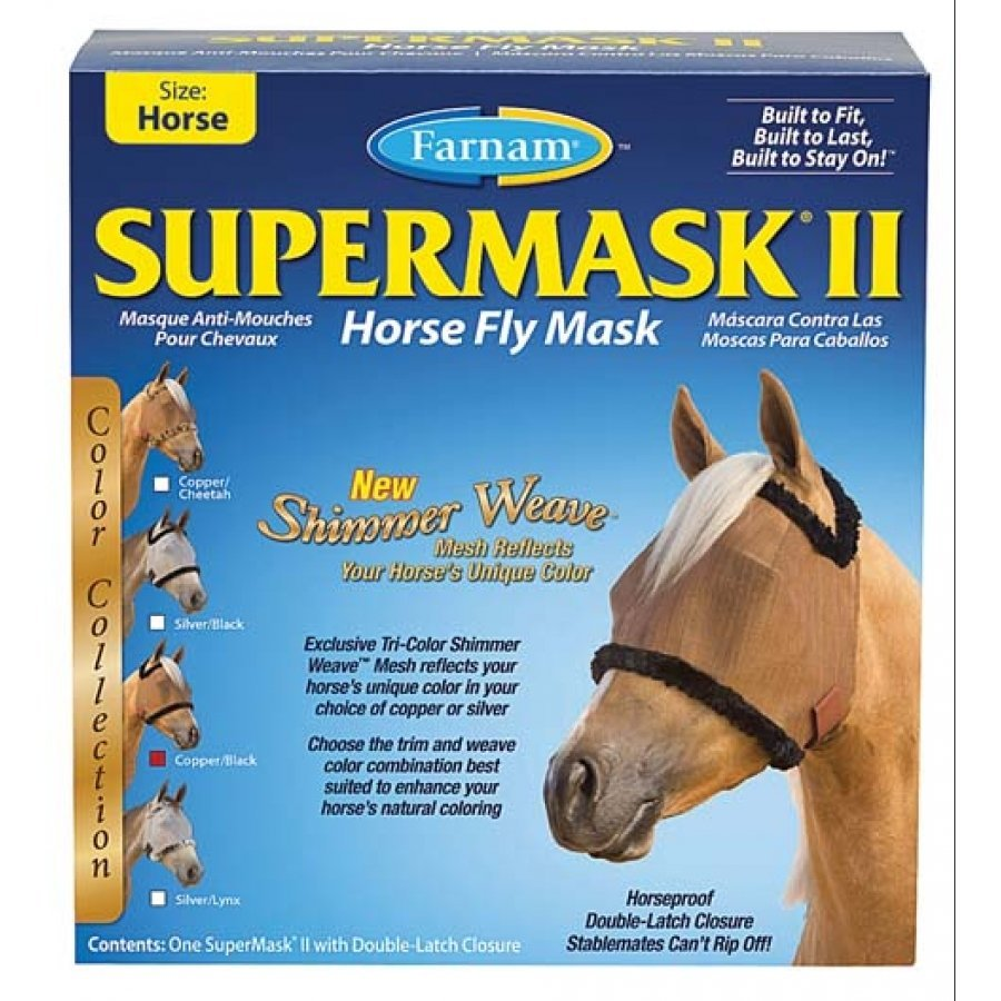 Supermask 2 Fly Mask / Size (Horse w/o Ears Copper/Black) Best Price