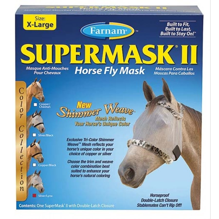 Supermask 2 Fly Mask / Size (XL Horse w/o Ears Silver Lynx) Best Price
